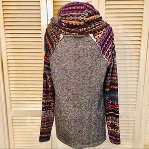 12 Pm By Mon Ami Sweaters - 12pm by mon ami | Tribal Print Distressed Sweater